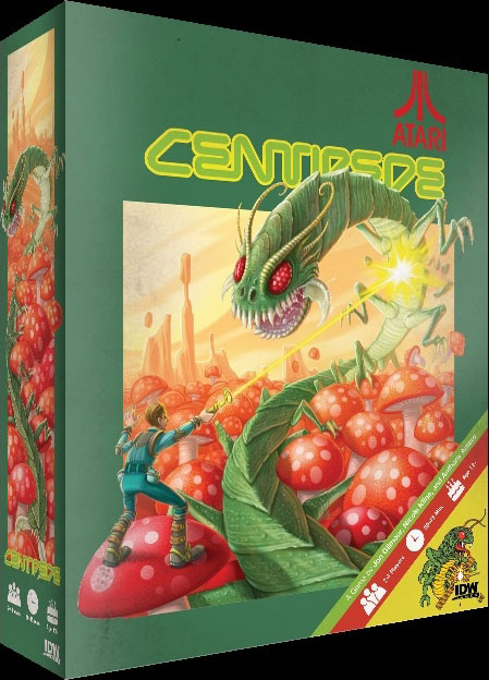 IDW Games' mock up of a Centipede board game
