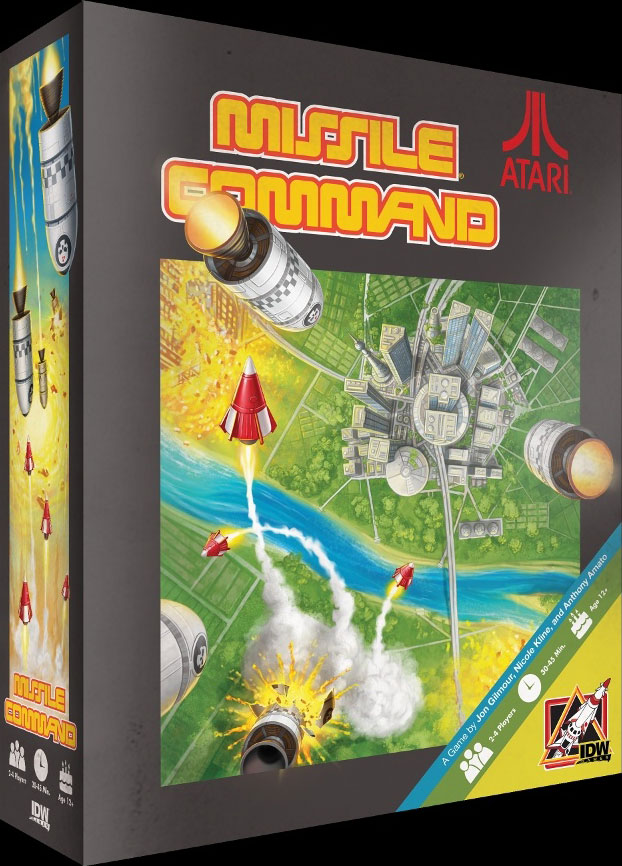 IDW Games' mock up of a Missile Command board game