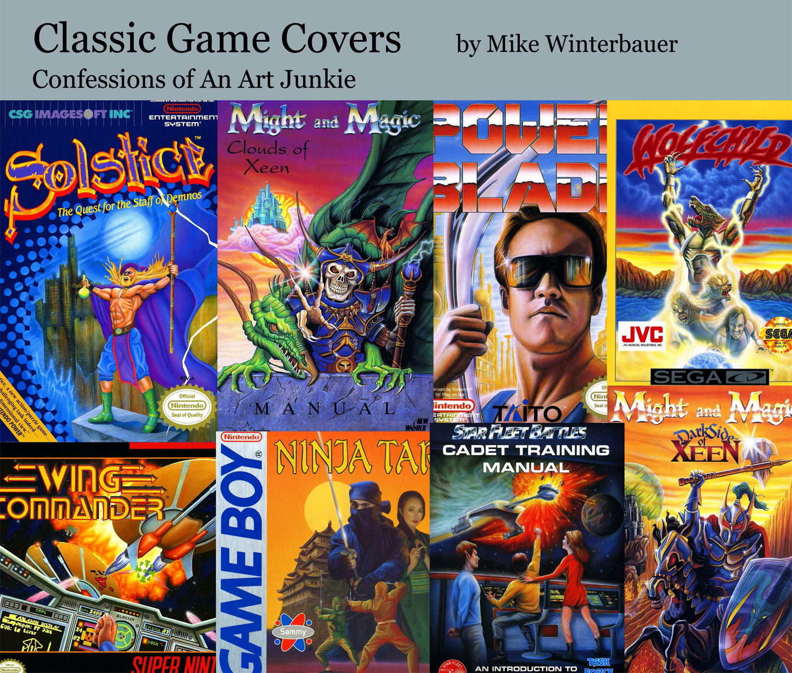 Classic Book Covers Art : Winterbauer s upcoming video game boxart book has