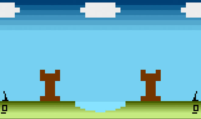 Atari 2600 hoomebrew game, Defend Your Castle
