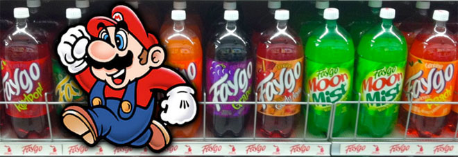 Mario with Faygo Soda