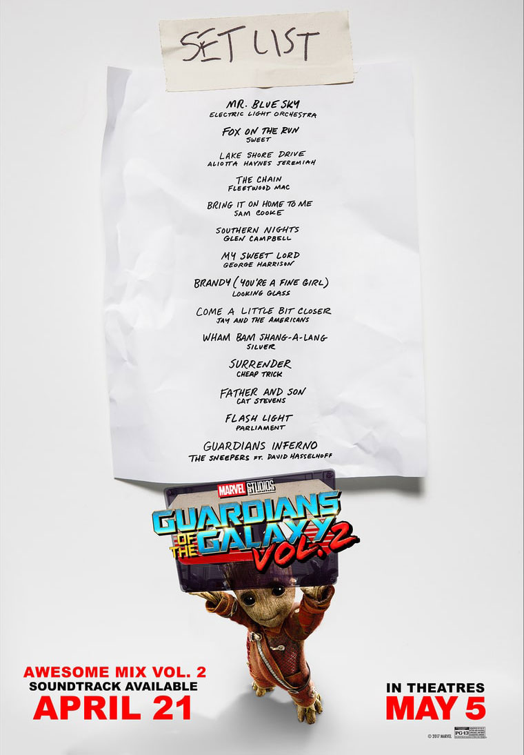 Guardians of the Galaxy Vol. 2 soundtrack listing