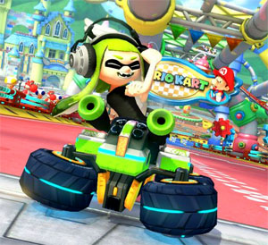 Inkling making rude gestures