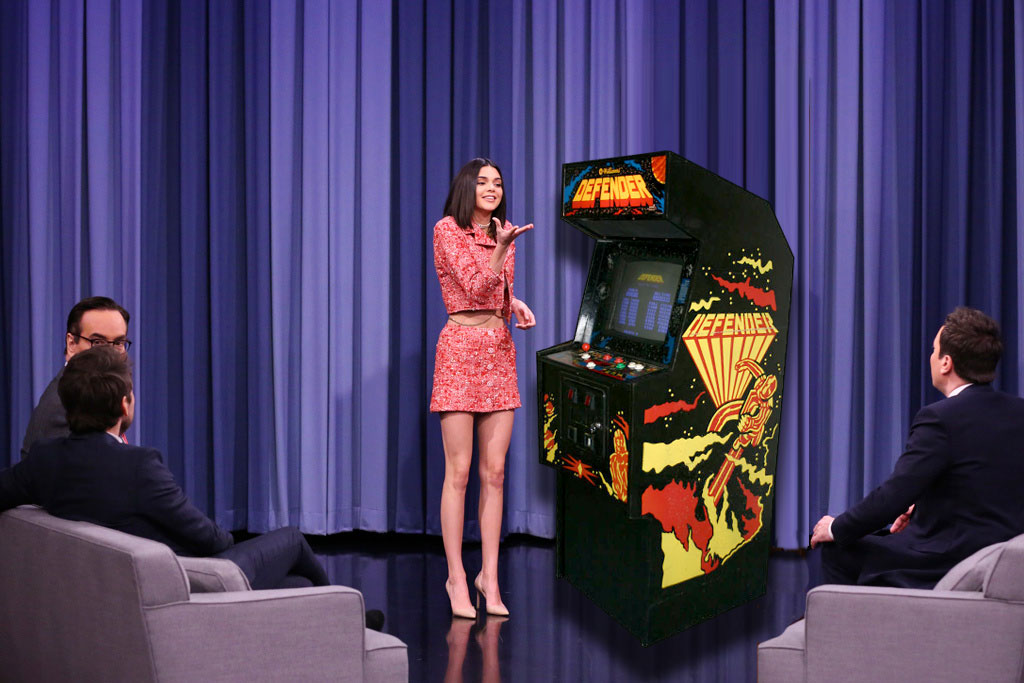 Kendall playing defender on Fallon - fake pic
