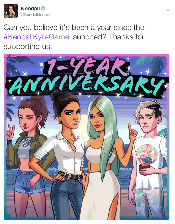 Kendall & Kylie mobile game