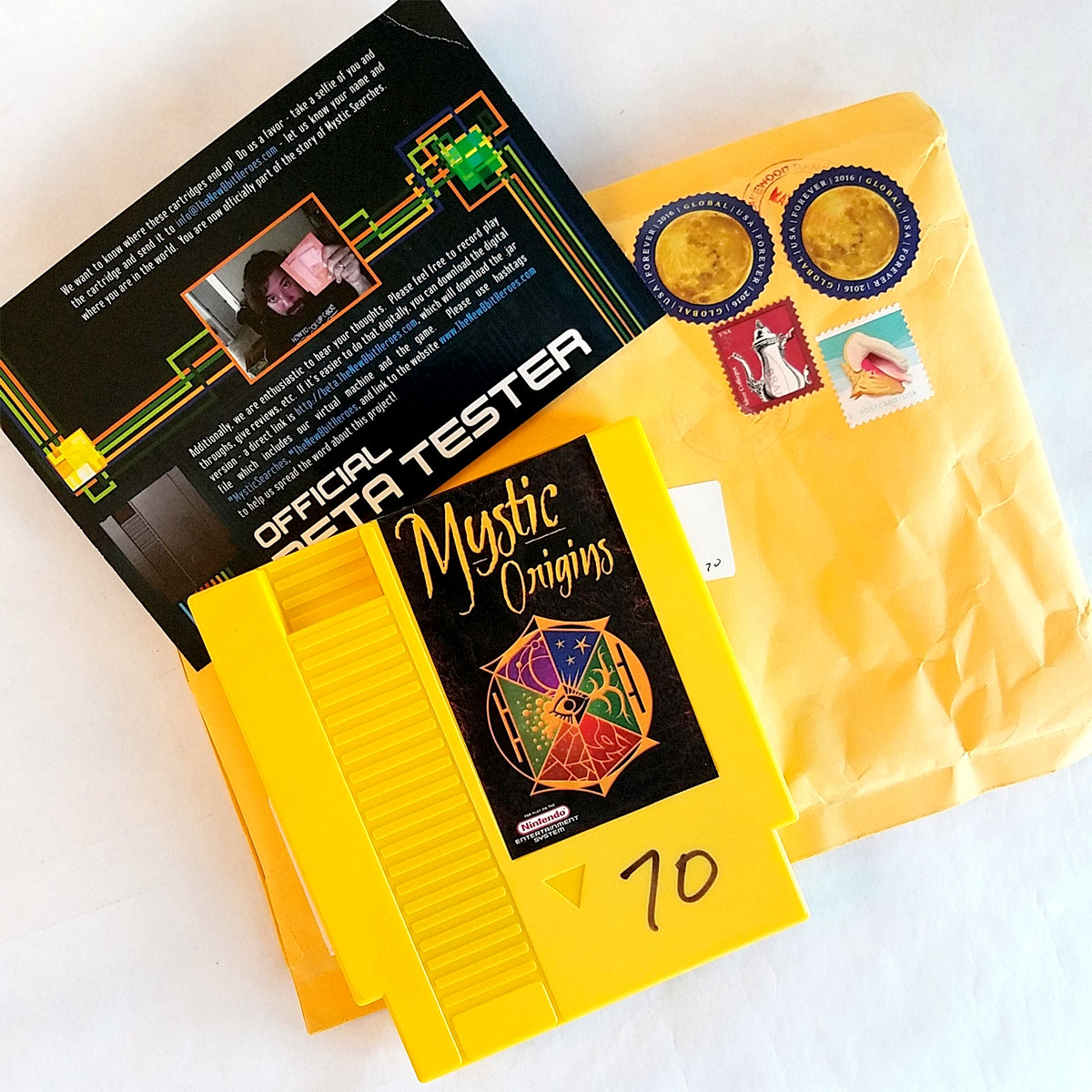 Mystic Origins yellow beta tester cartridge