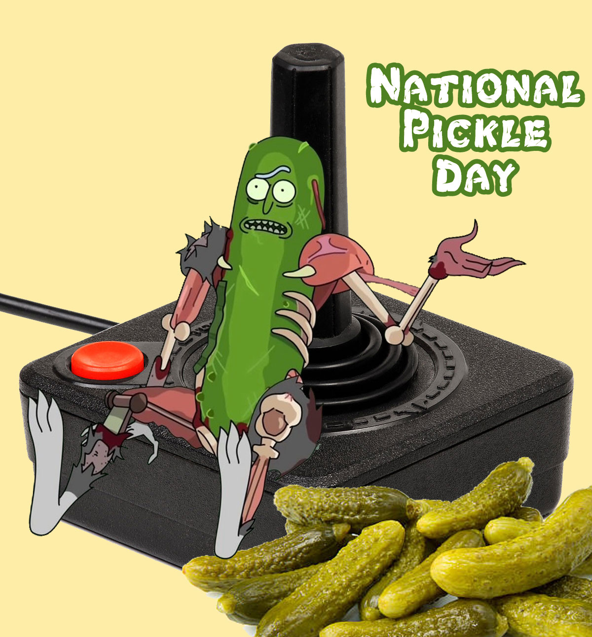 Rick & Morty's Pickle Rick on National Pickle Day