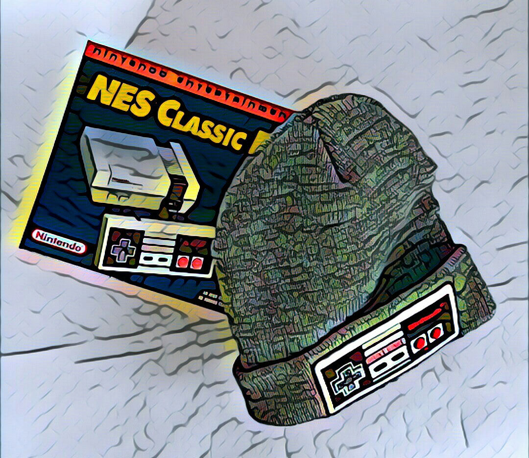 NES hat and NES Classic Edition box - Prisma filter