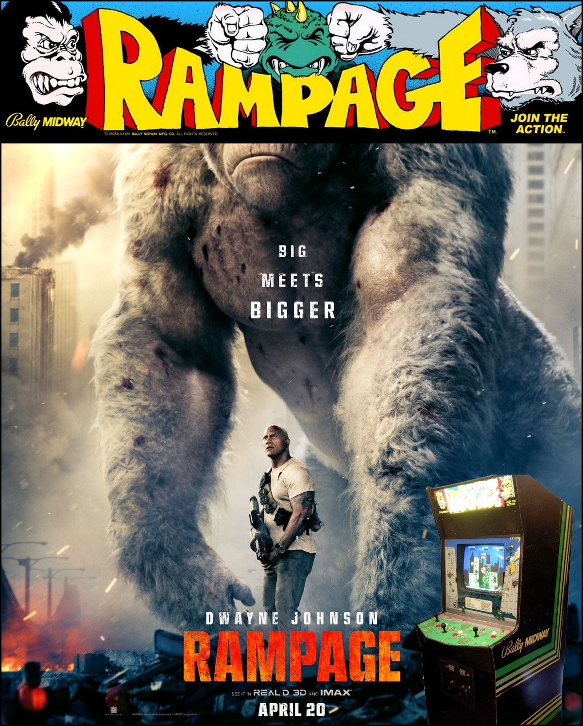 The Rampage arcade game is now a movie