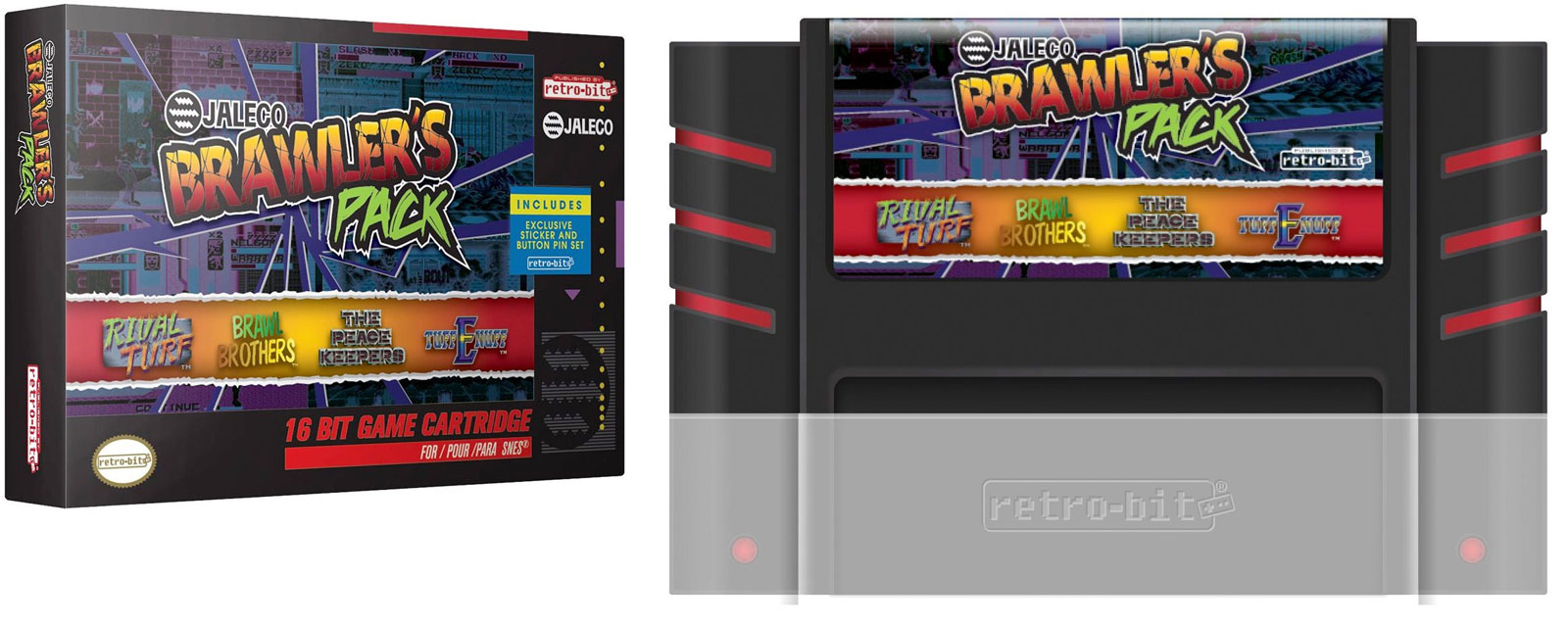 Retro-Bit's multigame collections: Jaleco Brawler's Pack