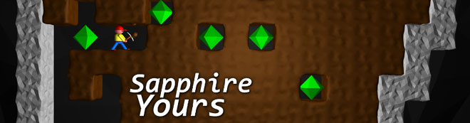 retro mining game, Sapphire Yours
