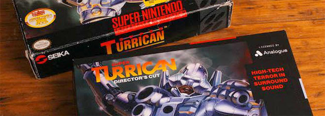 Super TurricanAn is now the pack-in game for the Analogue Super Nt