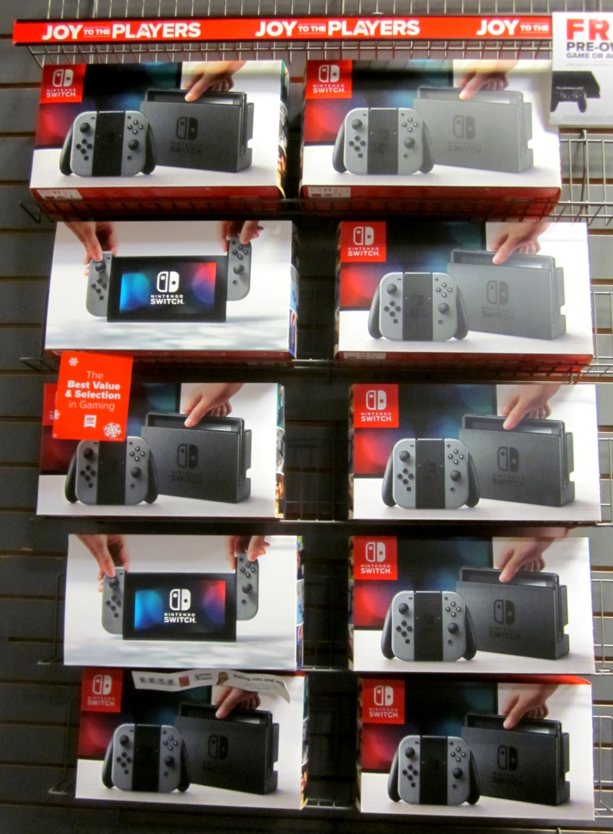 Nintendo Switch boxes at GameStop