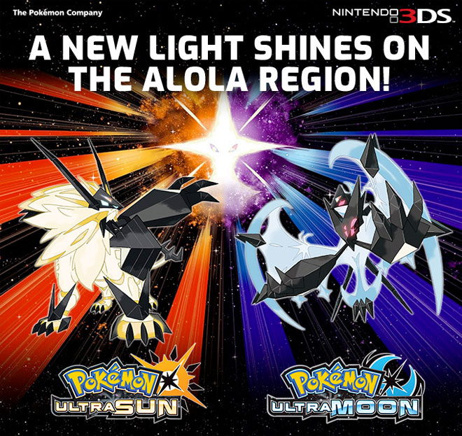 Pokeomon Ultra Sun and Ultra Moon