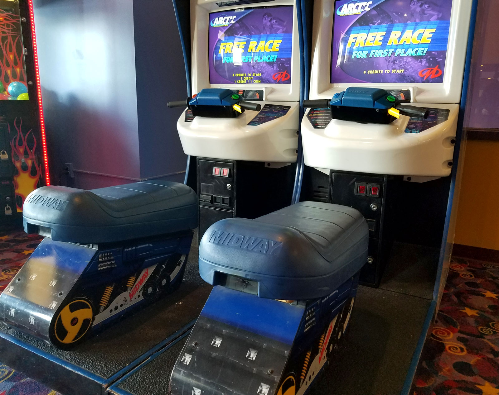 Midway's Arctic Thunder arcade game