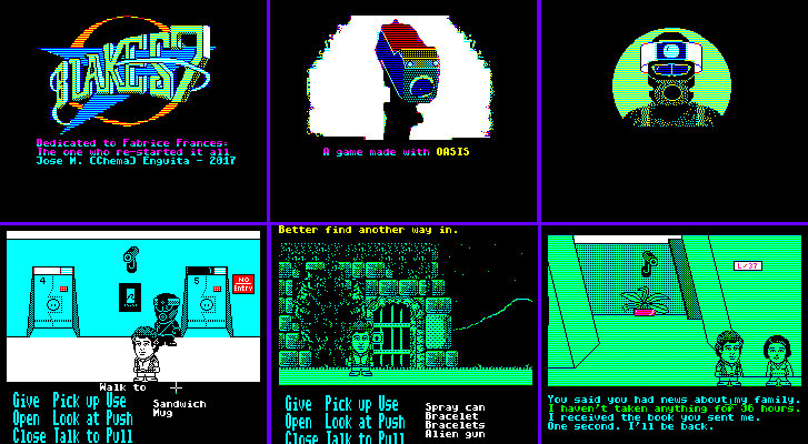 Blake's 7 point & click adventure game for the Oric