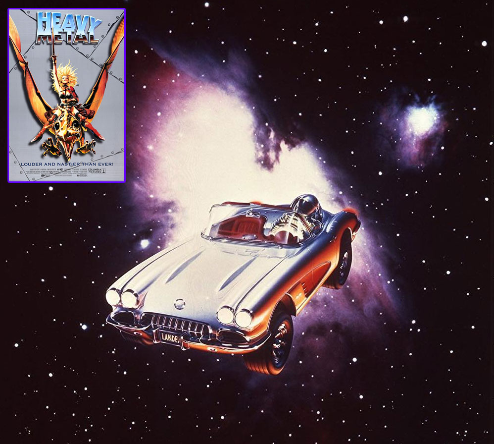 Orbiting car from the Heavy Metal film