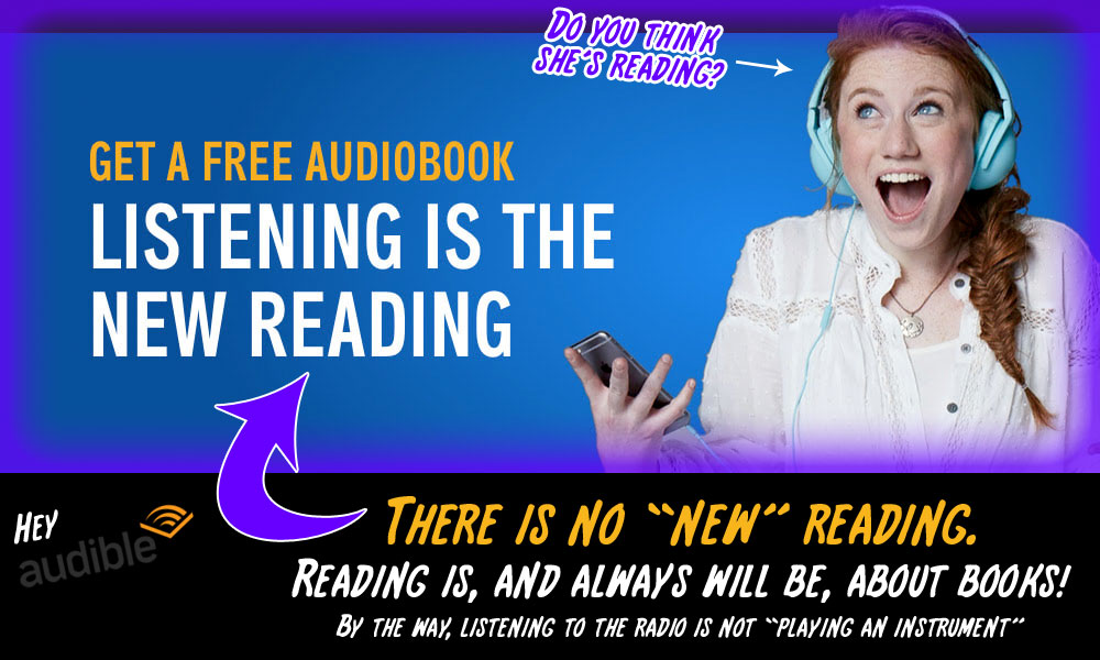 Reading is about reading - not listening to audio recordings