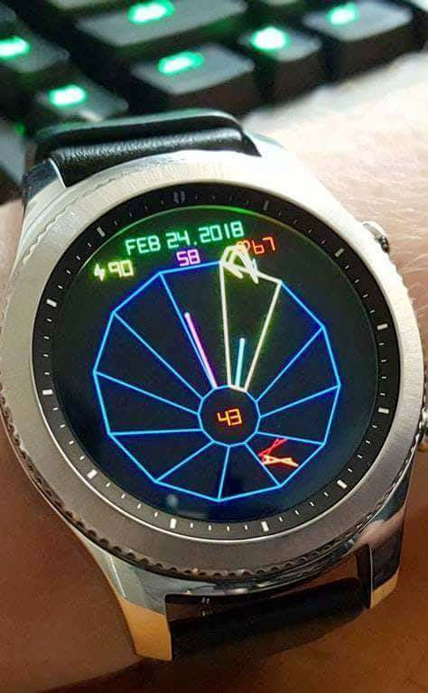 Tempest arcade face for the Samsung Gear S3 smartwatch