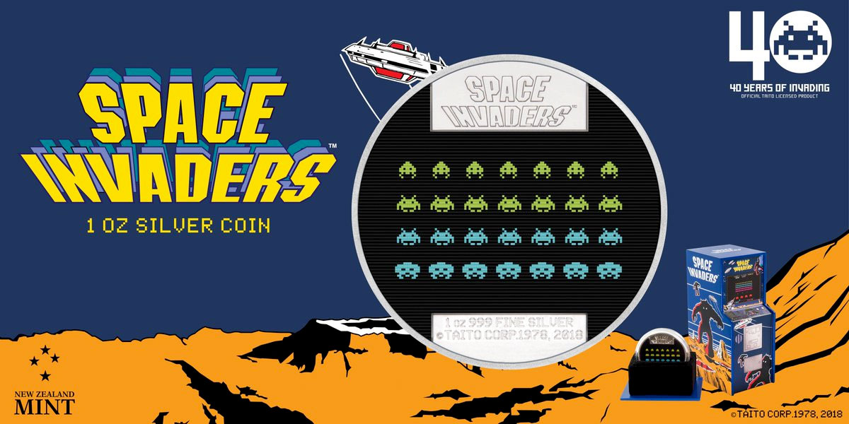 Space Invaders 40th Anniversary Coin