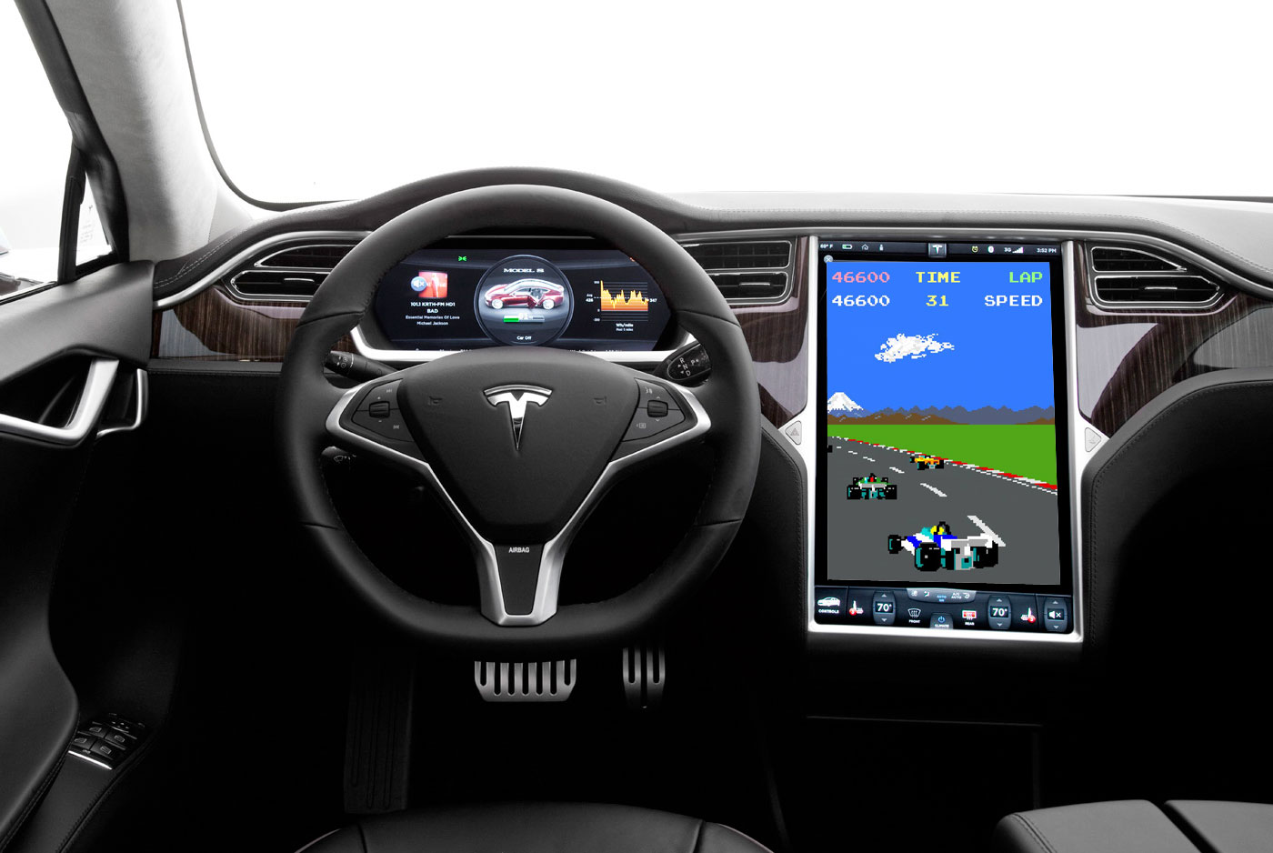 Classic video games on Tesla