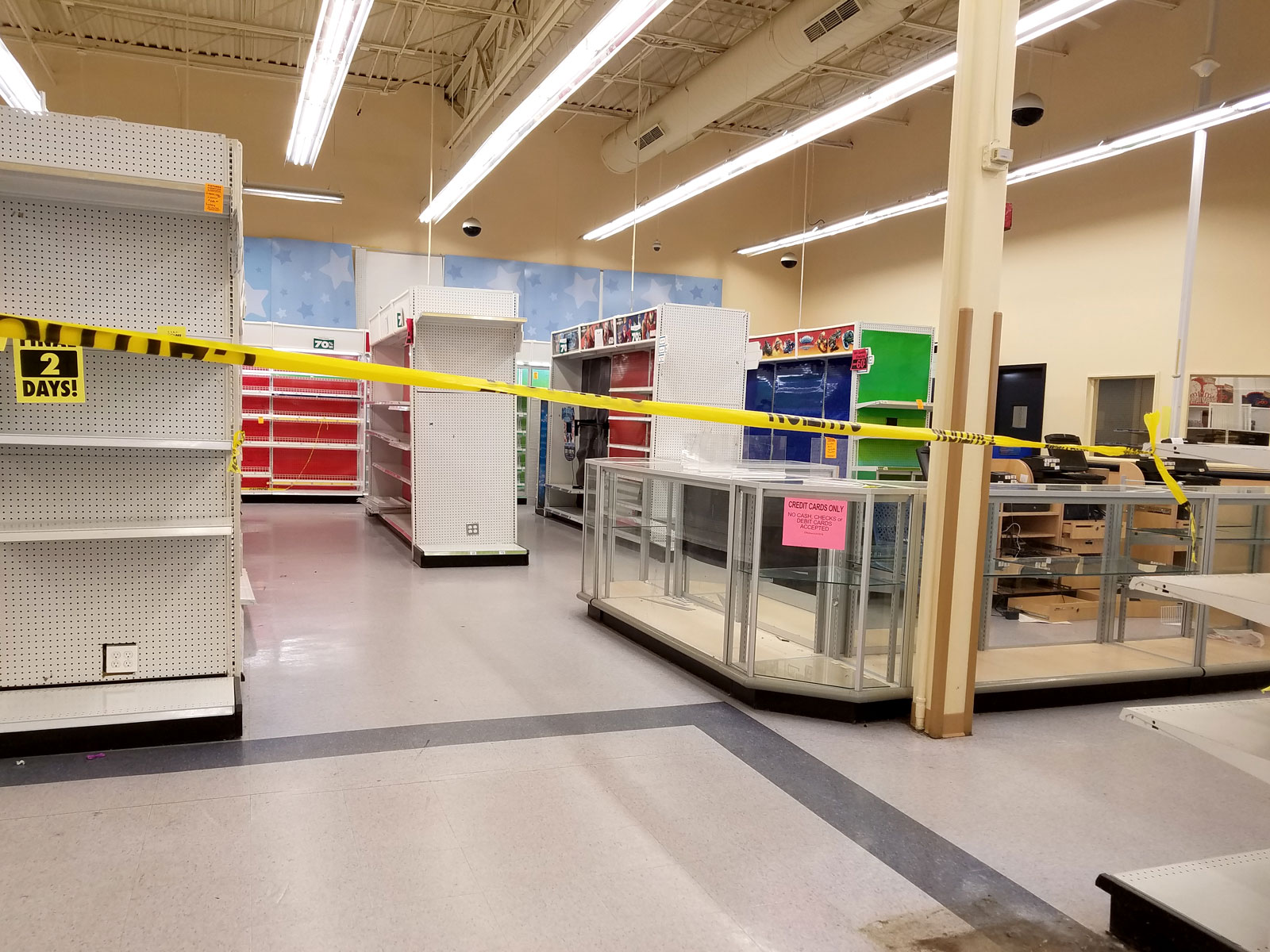 Empty areas of Toys R Us