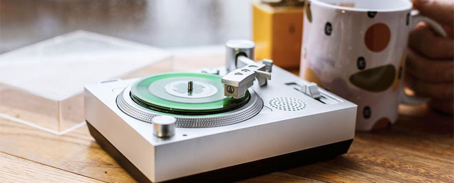 3-inch record turntable