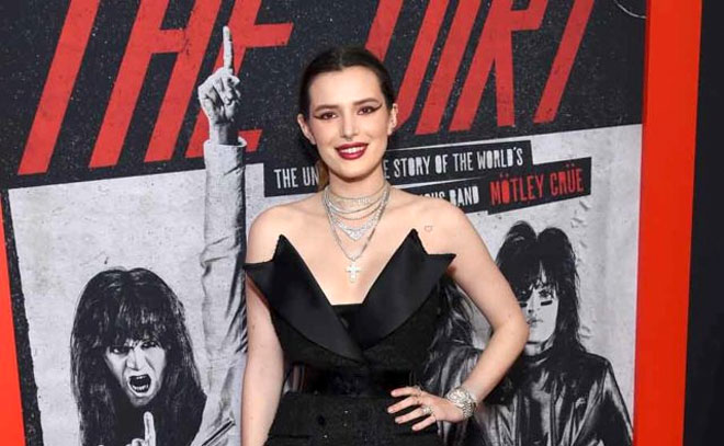 Bella Thorne attends The Dirt Premiere