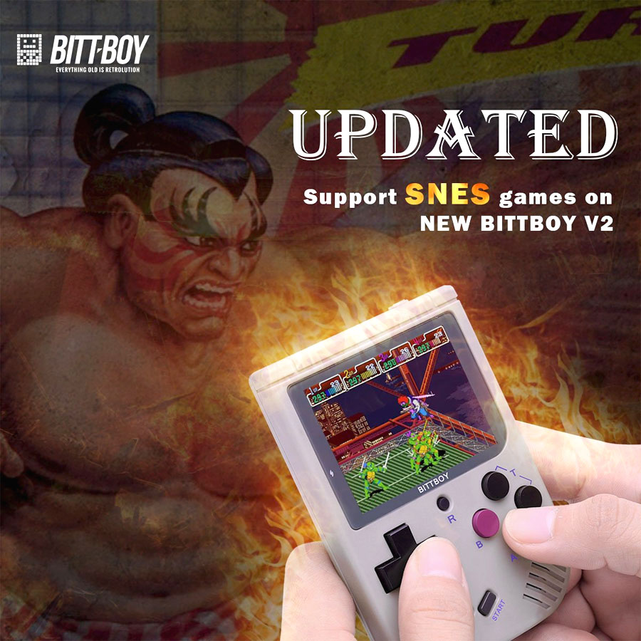 The BittBoy handheld supports SNES