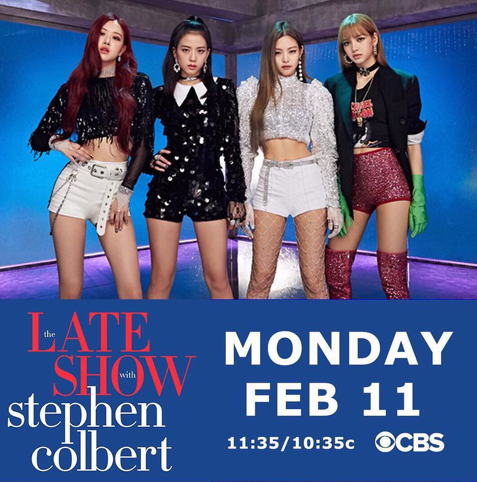 BlackPink appears on the Late Show