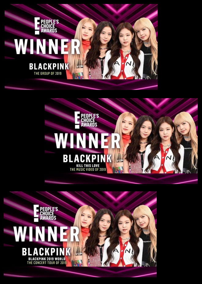 BlackPink won three People's Choice Awards