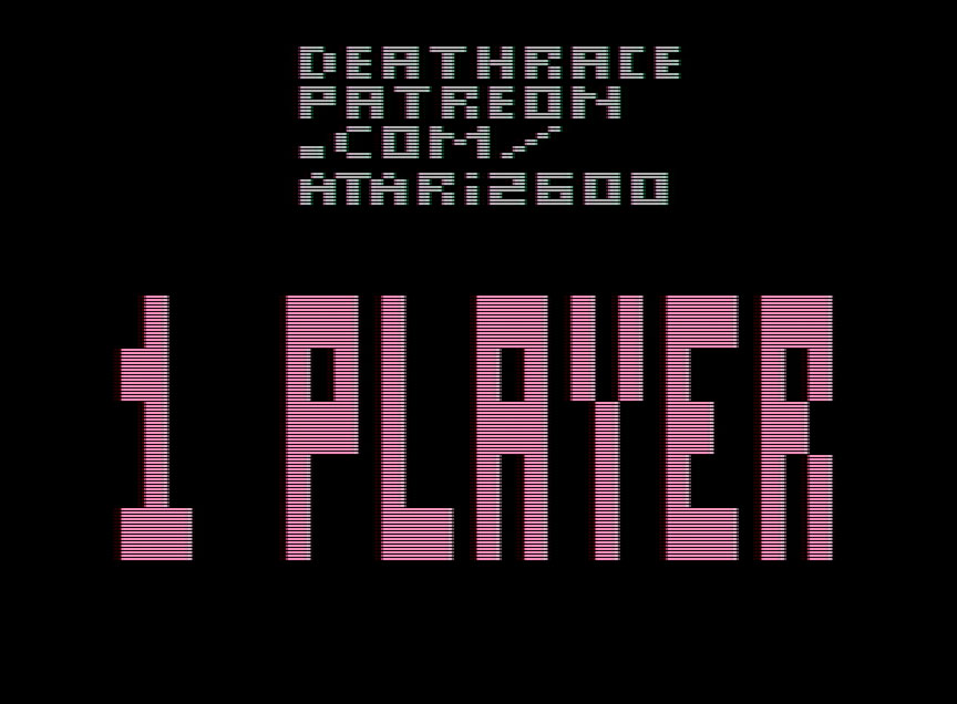 Programmer posted his #DeathRace game ROM (for #Atari2600