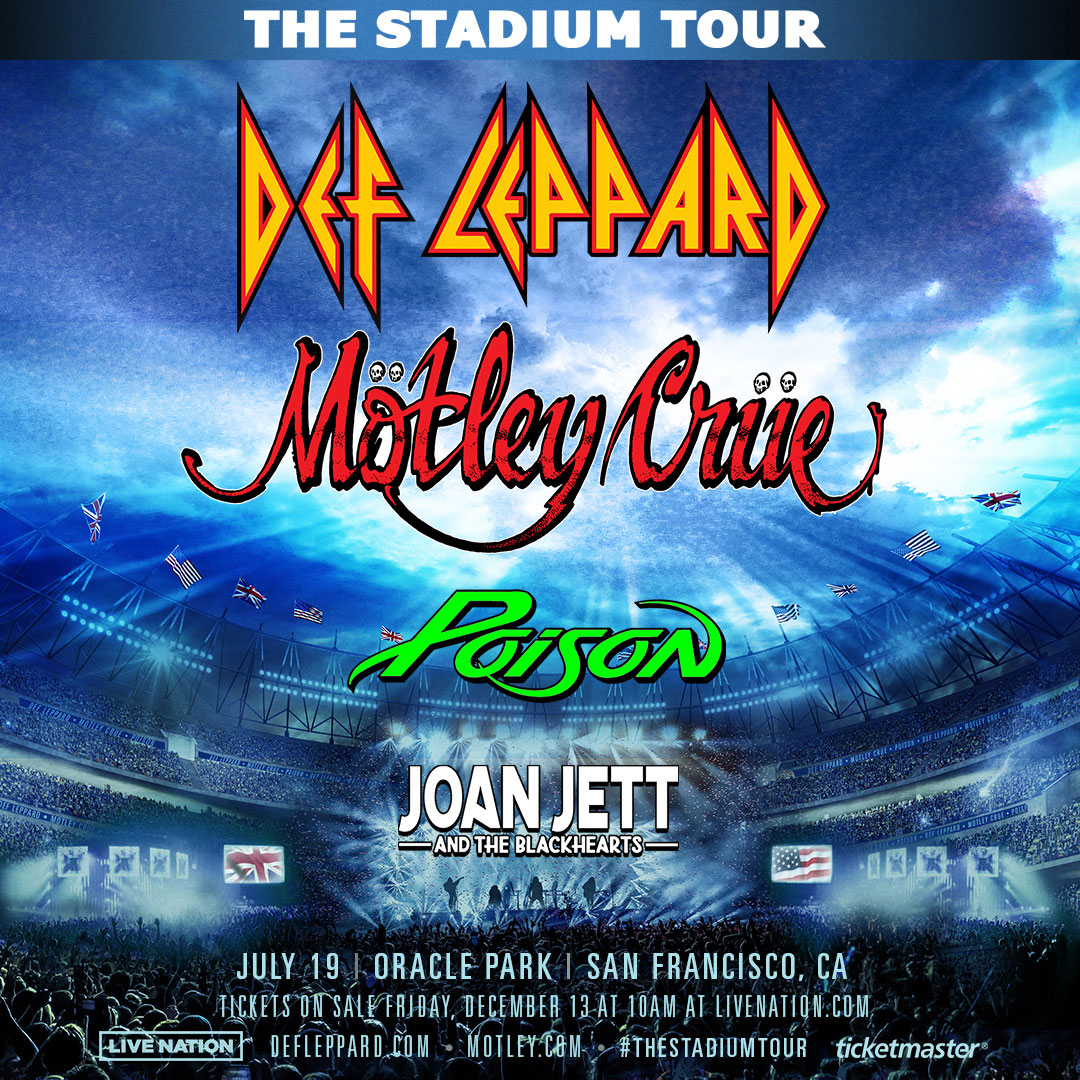 Motley Crue, Def Leppard, Poison, and Joan Jett on tour together