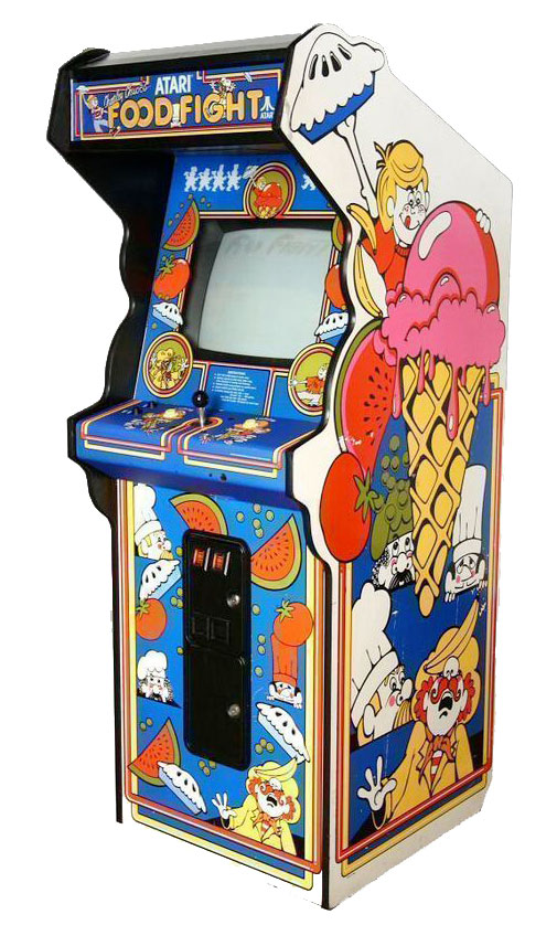 Real Genius with Food Fight arcade game