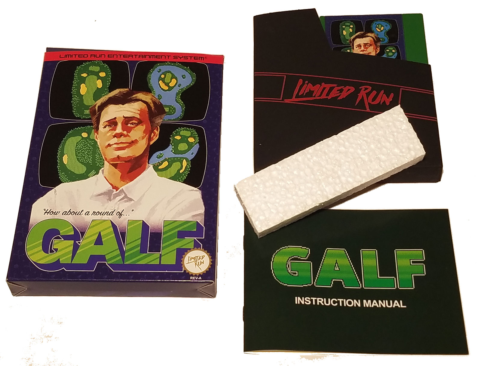 Golf Story's minigame, Galf, on an NES cartridge