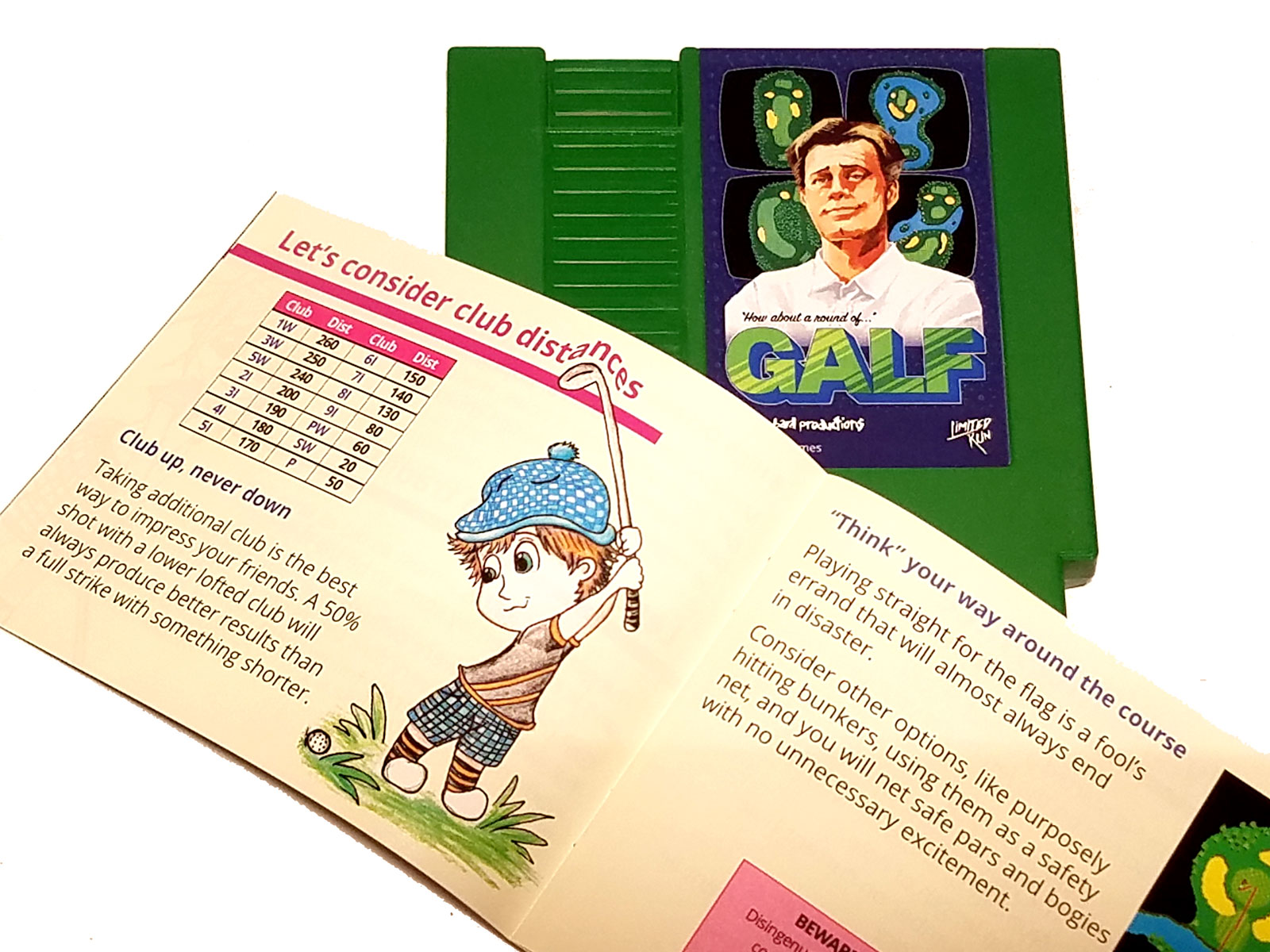 Golf Story's minigame, Galf comes on an NES cartridge with a manual