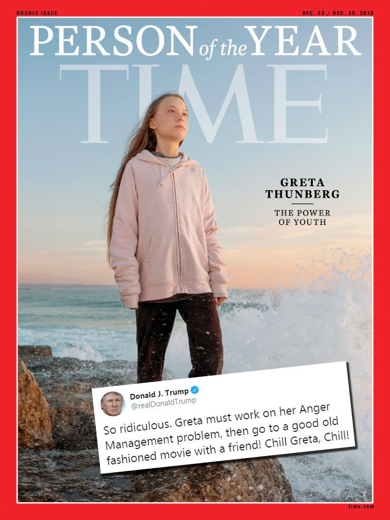 Greta Thunberg is named Time's Person Of The Year