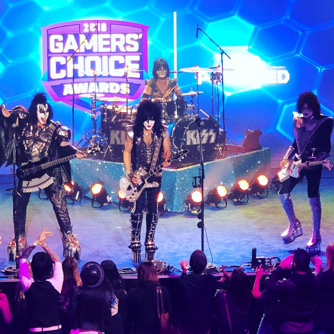 Kiss appearance on the Gamers Choice Awards
