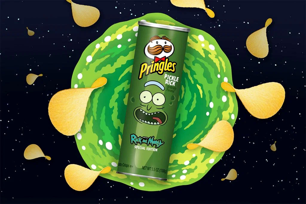 Pringles Pickle Rick flavored chips