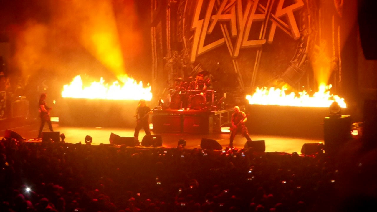 Slayer's final fairwell tour show at the Forum in Inglewood, CA