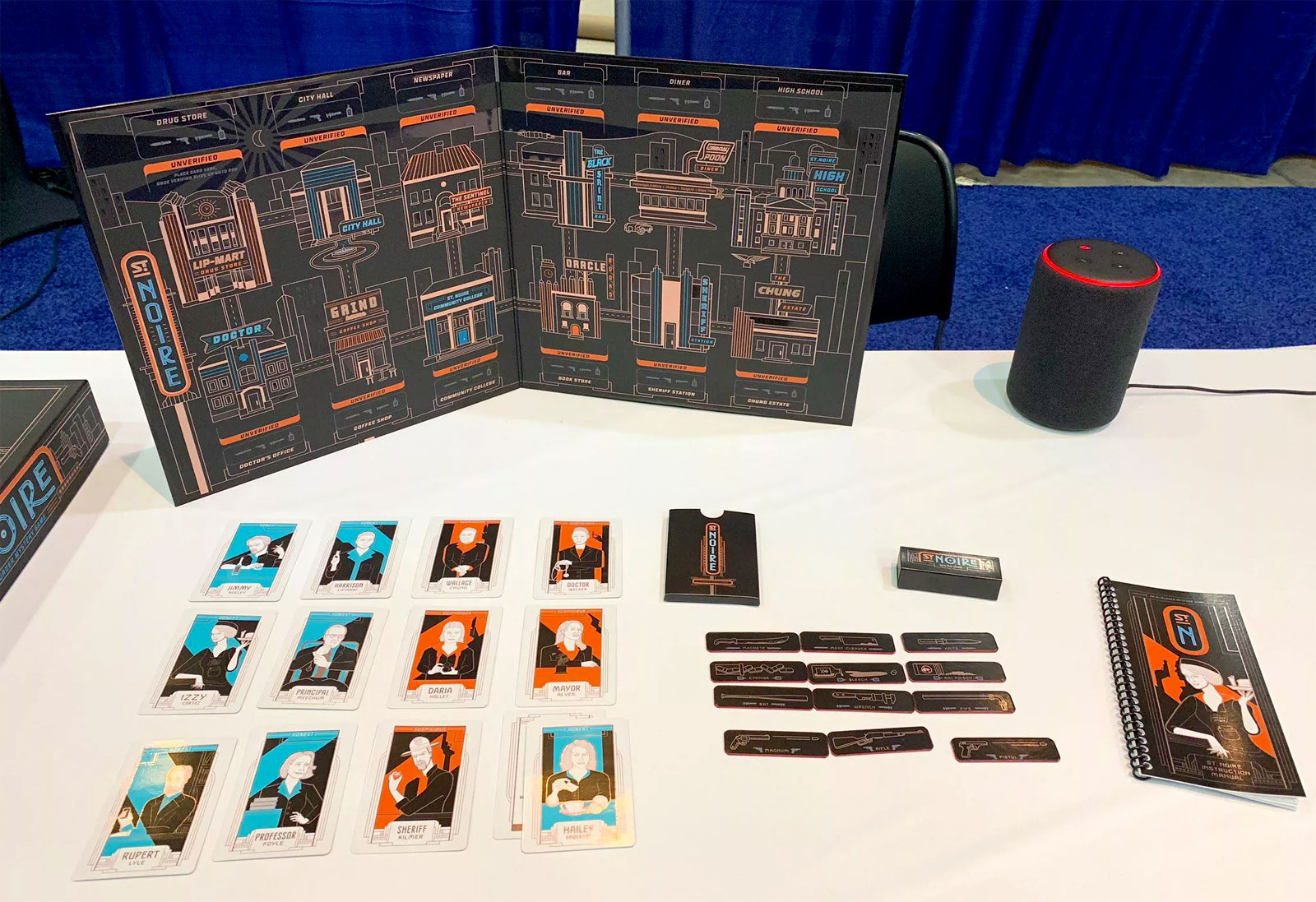 St. Noire is Bushnell's first Alexa board game