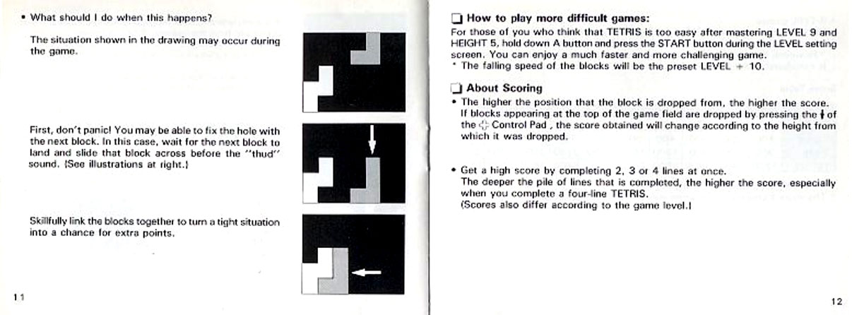 Official Tetris manual