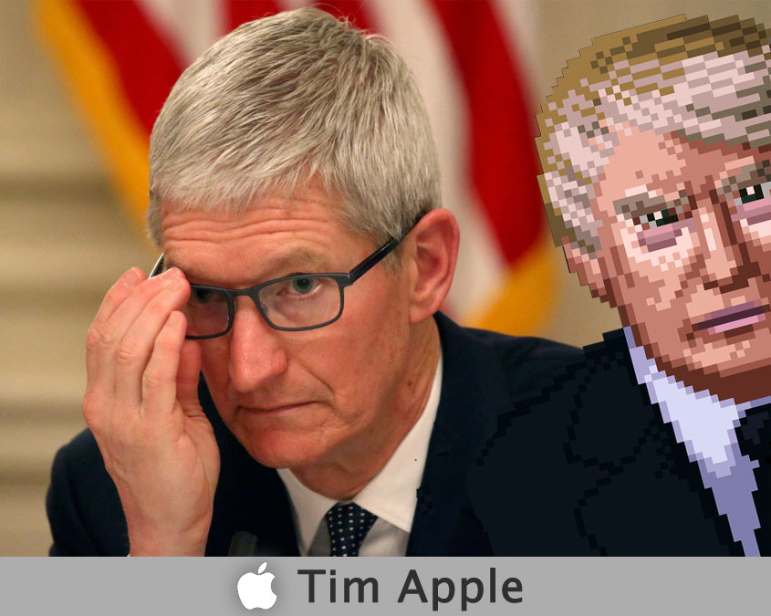 Trump called Apple's CEO Tim Apple