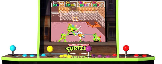 TMNT arcade game from Arcade1Up