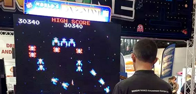 Worlds Largest Pac-Man game plays Galaga too