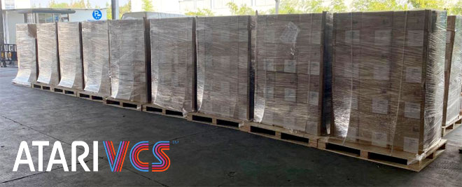 Pallets of new Atari VCS game consoles in China