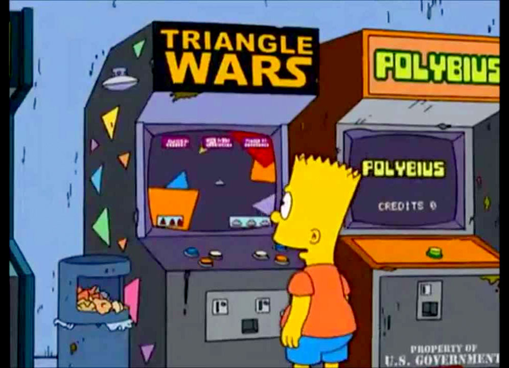 Bart Simpson Polybius arcade game