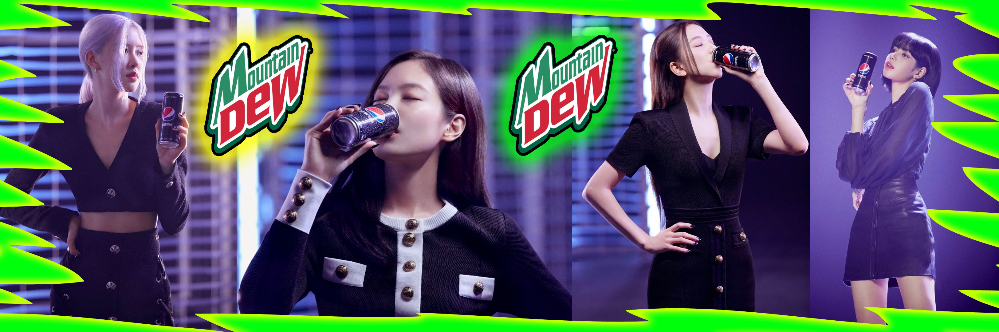 I wish Blackpink were in Mt. Dew ads