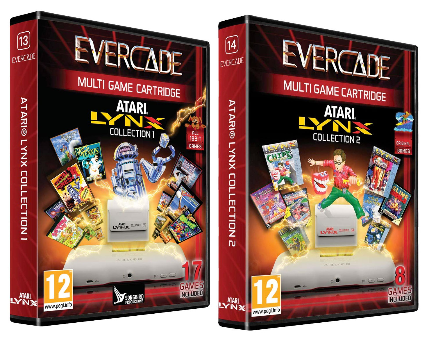 The 2 Atari Lynx games for Evercade