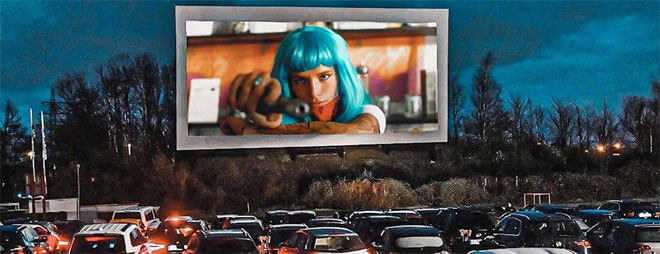 Drive-in theater showing Bella Thorne in Infamous